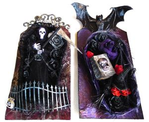 Halloween Coffin Tags