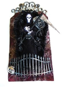 Skelett i kista Tag