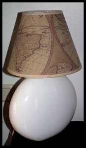 Rustic Lamp before altering